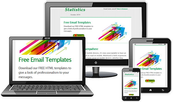 mobile friendly emails free html e mail templates
