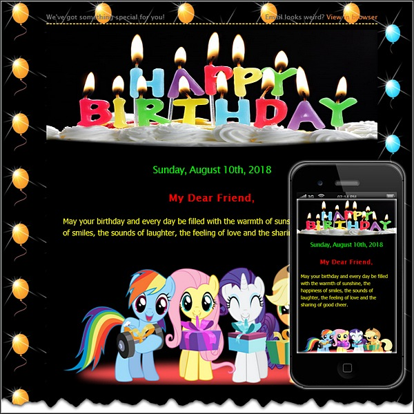 Birthday Card Free Html E Mail Templates