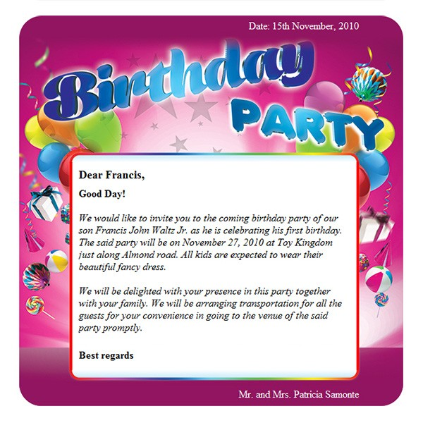 birthday party free html e mail templates