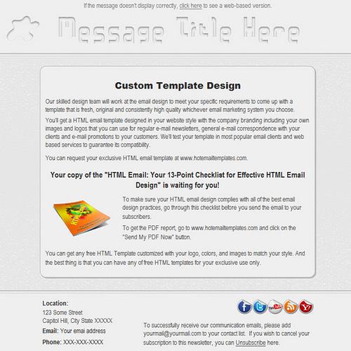 free premium html email templates. Black Bedroom Furniture Sets. Home Design Ideas