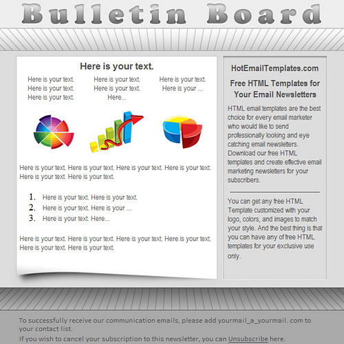 Bulletin free html e mail templates for Email bulletin template
