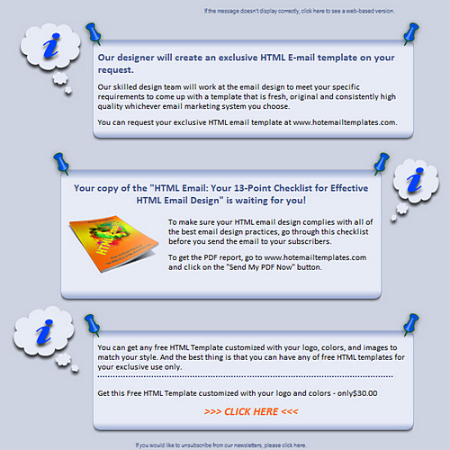 Bulletin board free html e mail templates for Email bulletin template