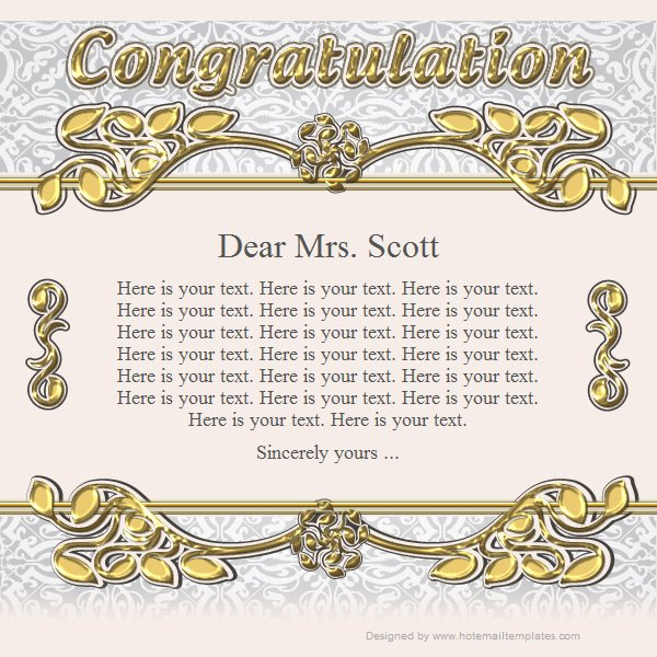Congratulation Templates Congratulation  Free Html Email Templates