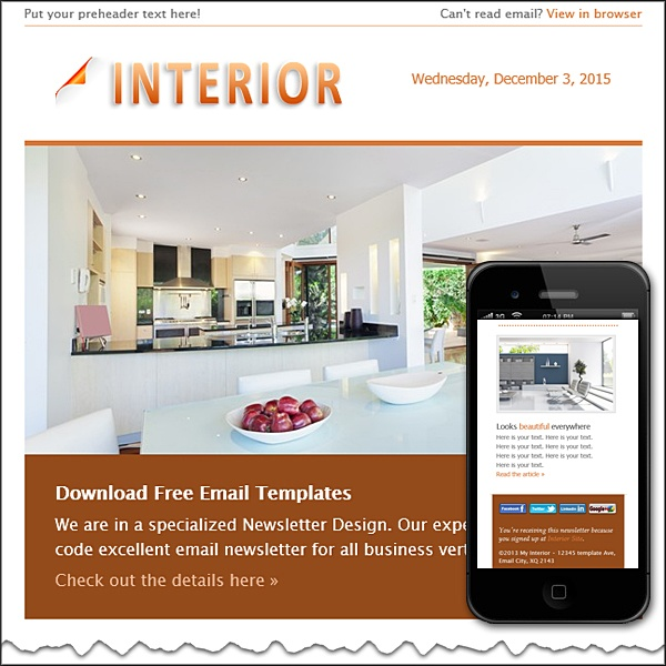 Interior Free Html E Mail Templates