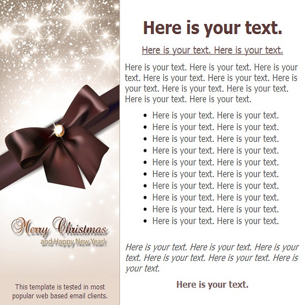 Merry Christmas And Happy New Year! | Free Html E-Mail Templates