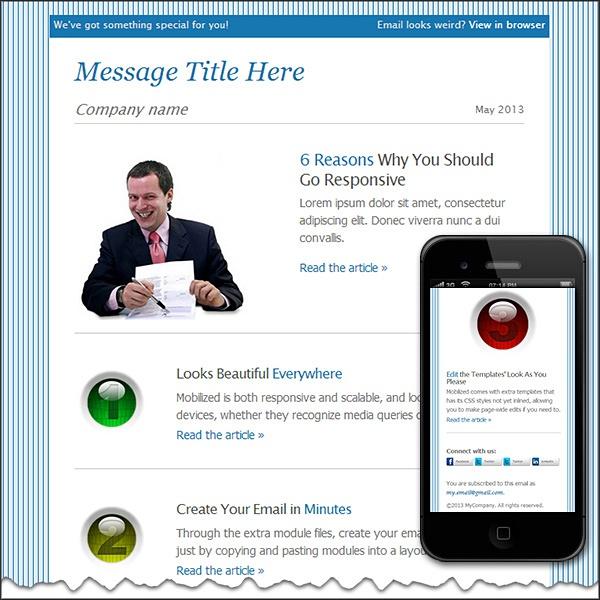 Minimal mobile | Free HTML E-Mail Templates