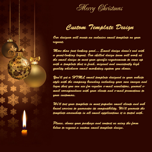 Merry Christmas  New Year  Free Html EMail Templates
