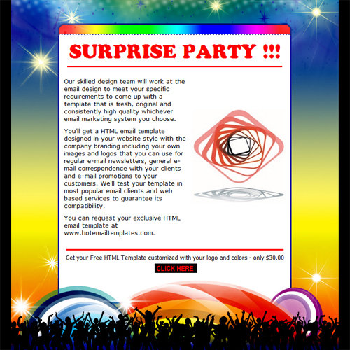 Invitation email format for party for Free email invitation template