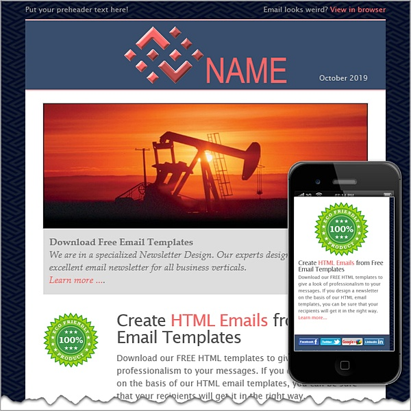 Petroleum free html e mail templates for How to create email template using html