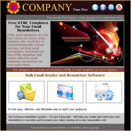 Flowers Bar Free Html E Mail Templates