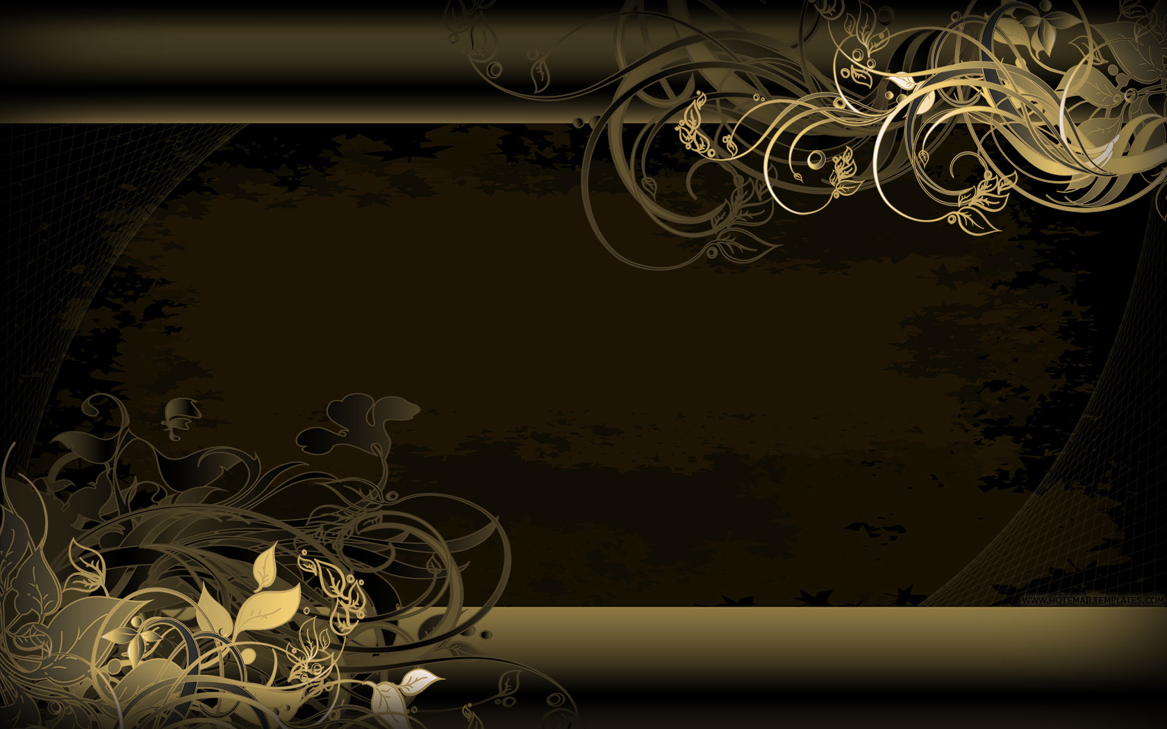 Gold vintage wallpaper free html e mail templates for Gold wallpaper designs