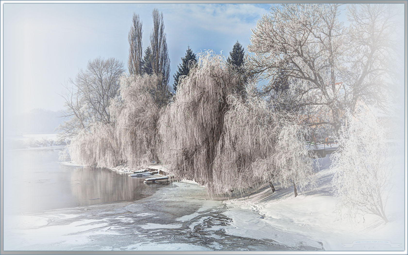 Winter Wallpaper For Computer Full Screen Winter pond Free HTML E Mail Templates