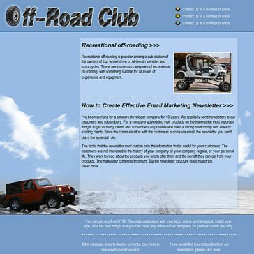 Email Template: Off-road Club