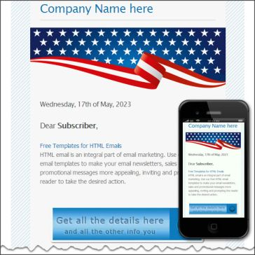 Email Template: US flag