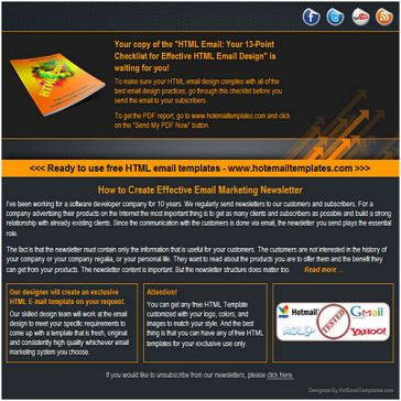 Email Template: ABC presents