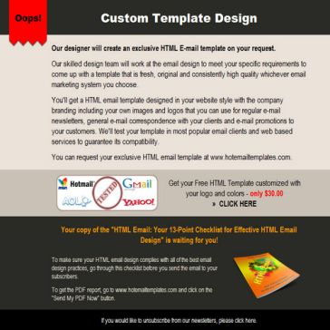 Email Template: Advertisement
