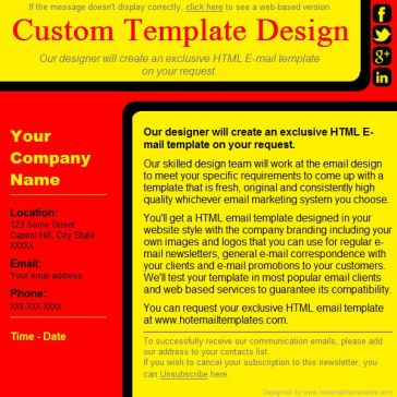 Email Template: Advertising