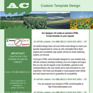 Email Template: Agriculture