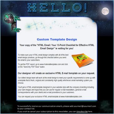 Email Template: Aliens