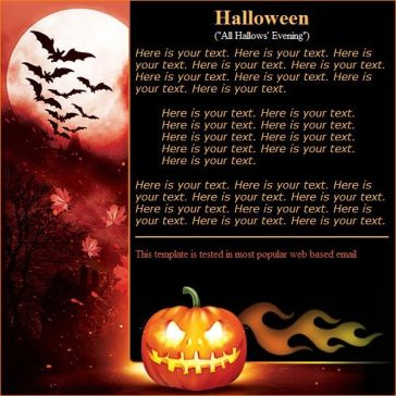 Email Template: All Hallows Evening