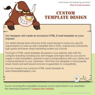 Email Template: Angry bulls