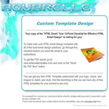 Email Template: Aquarelle