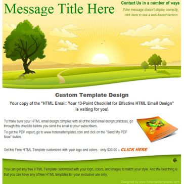 Email Template: August