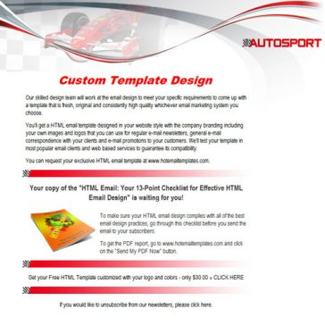 Email Template: Autosport