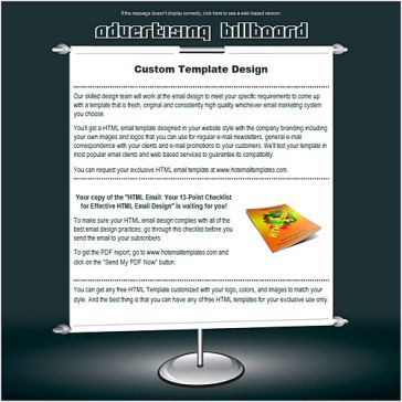 Email Template: Advertising billboard