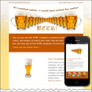 Email Template: Beer!