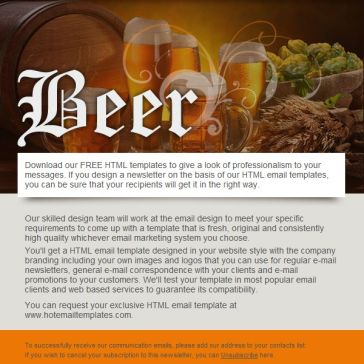 Email Template: Beer Club