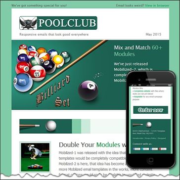 Email Template: Billiard-Pool