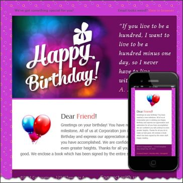 Email Template: Happy birthday!!!