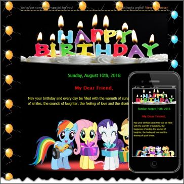 Email Template: Birthday card