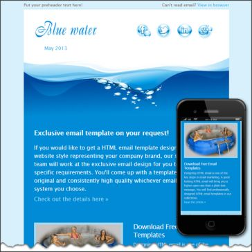 Email Template: Blue Water