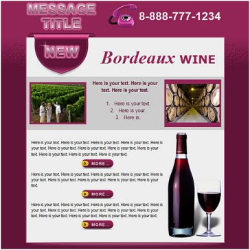 Email Template: Bordeaux wine