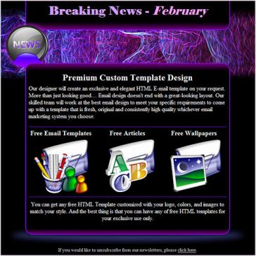 Email Template: Breaking News