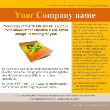 Email Template: Bright