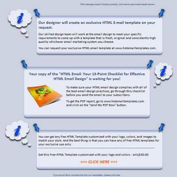 Email Template: Bulletin board