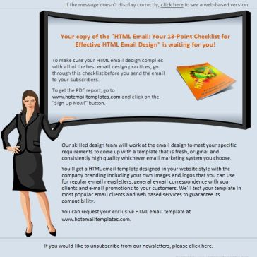 Email Template: Business Presentation
