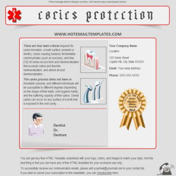 Email Template: Caries protection