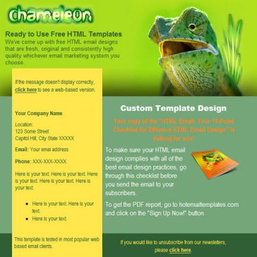 Email Template: Chameleon