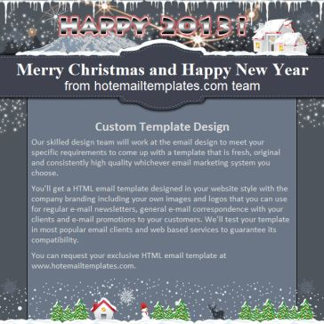 Email Template: Christmas 2013