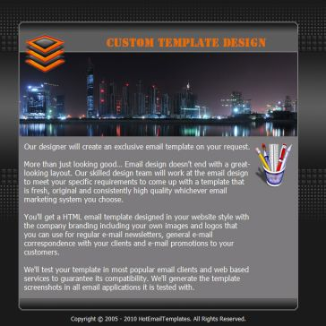Email Template: City Lights