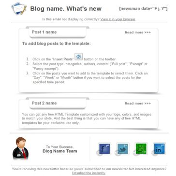 Email Template: Clear Blog