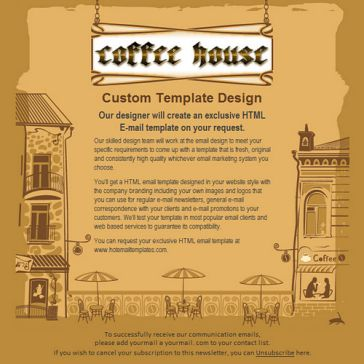 Email Template: Coffee house