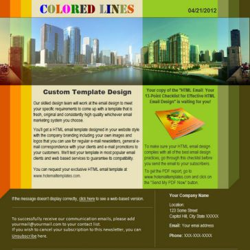 Email Template: Colored lines