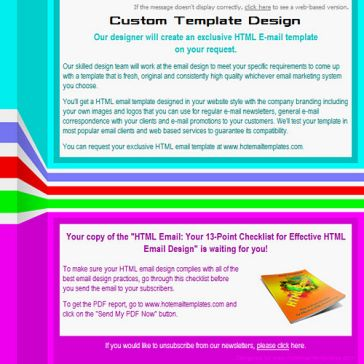 Email Template: Colors lines