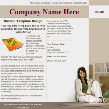 Email Template: Comfortable House