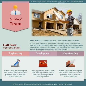 Email Template: Construction